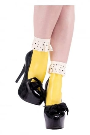 Trapp Frill Ankle Latex Rubber Socks