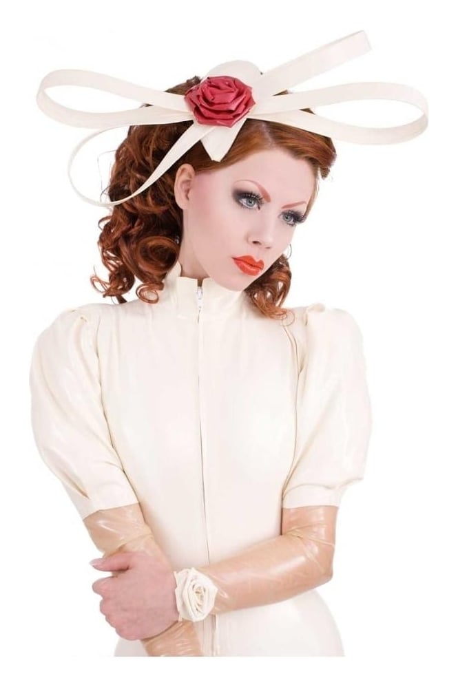 Twisted Rose Latex Rubber Fascinator
