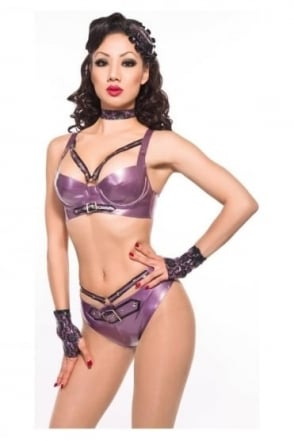 Valencia Harness Latex Rubber Briefs