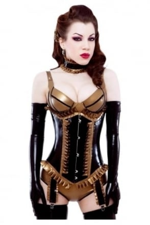Vegas Latex Rubber Bra.