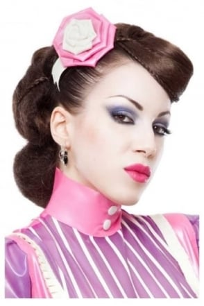 Vintage Latex Rubber Hair Rose