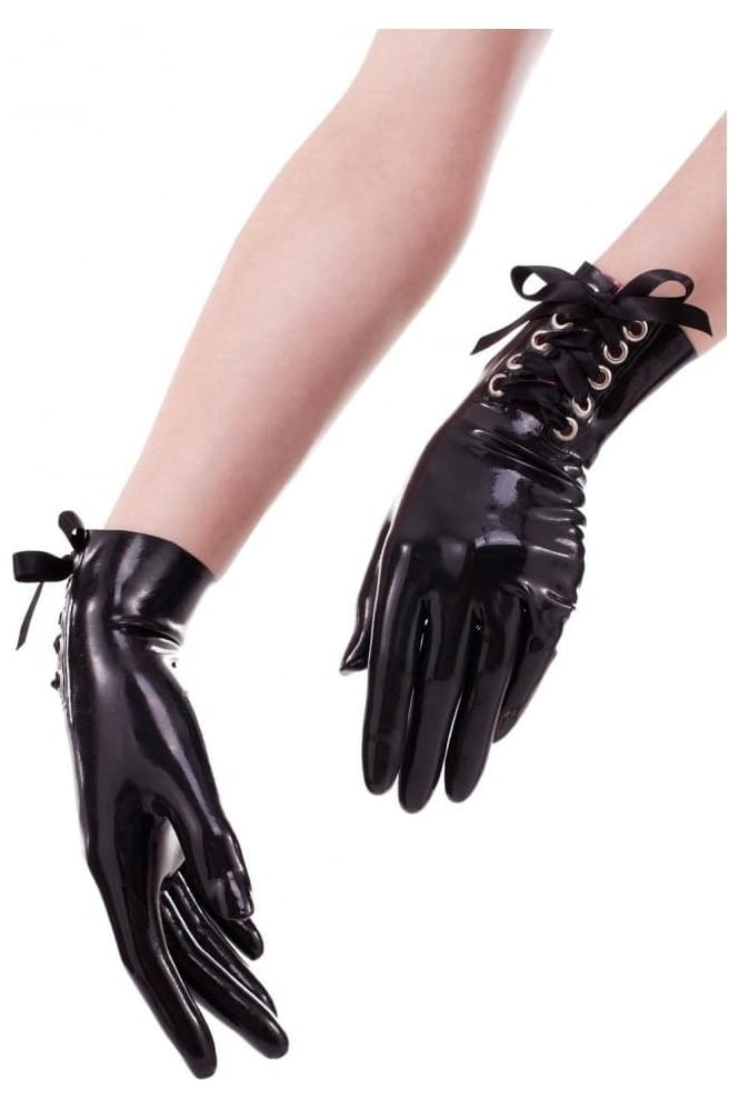 Viva La Cage Wrist Latex Rubber Gloves