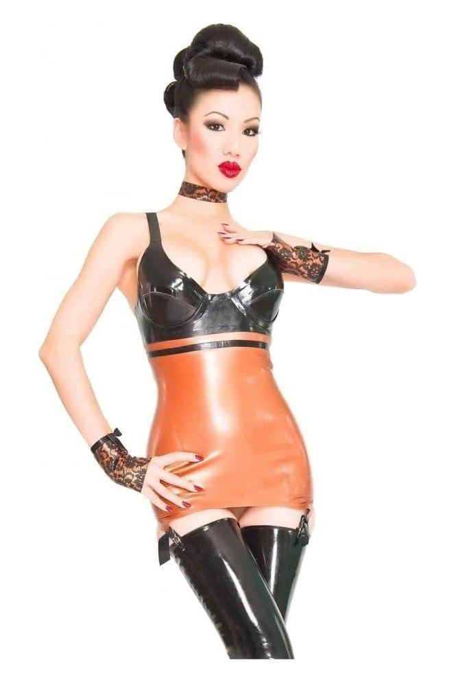 Volupte Micro Latex Rubber Clincher Latex Rubber Dress.