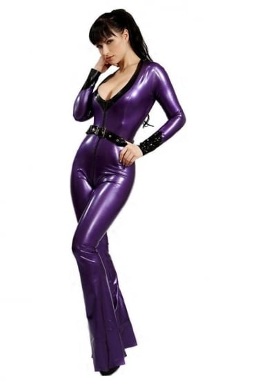 V'Retro Latex Rubber Catsuit.